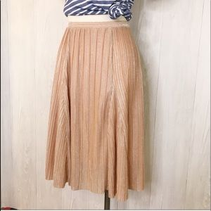 81ddb25e3 Anthropologie Skirts - MAEVE Ambra Metallic Rosegold sparkle midi skirt M